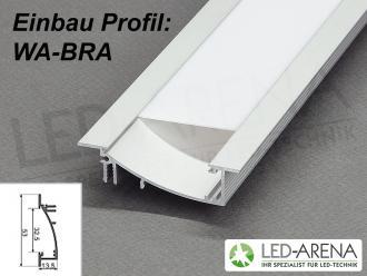 0 5m wa bra einbauprofil led alu profil aluminium 50cm led arena onlineshop. Black Bedroom Furniture Sets. Home Design Ideas