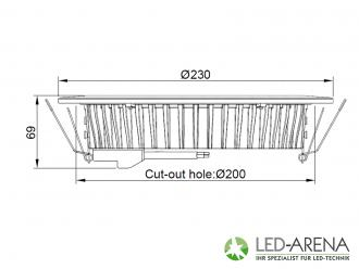 24w panon led einbau panel wei 120 230v direkt ohne for Einbau deckenleuchten