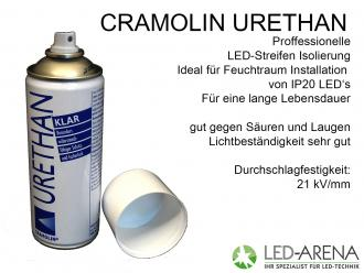 Cramolin URETAHN KLAR Isolationslack Feuchtraum Ideal für IP20 LED Premium Stripes mit Aluprofil kombination.