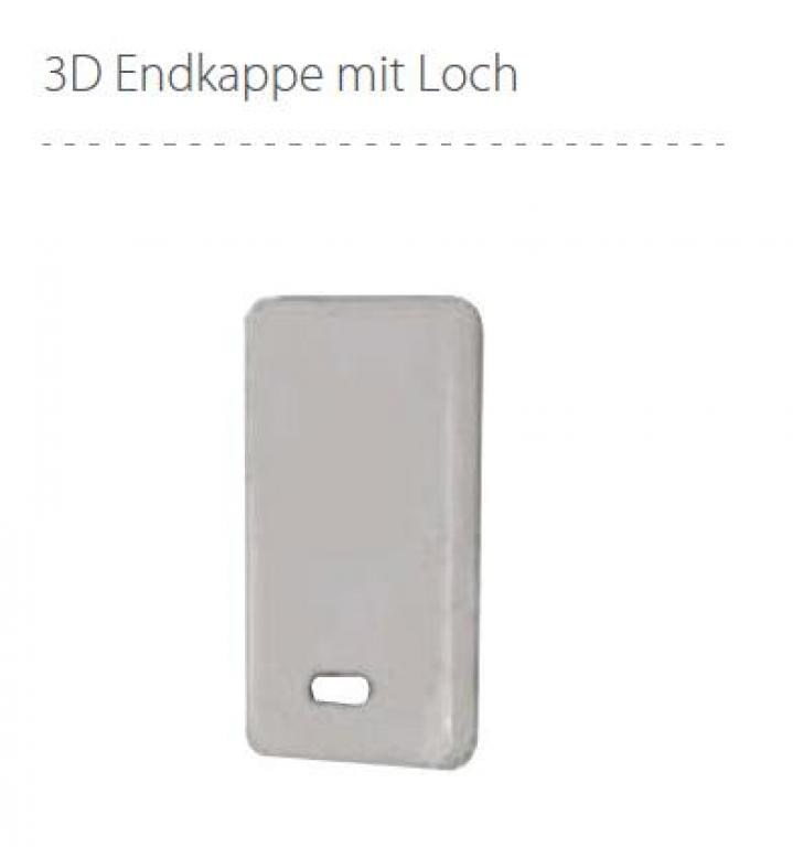 endst ck ex aluminium f r led profil mit loch led. Black Bedroom Furniture Sets. Home Design Ideas
