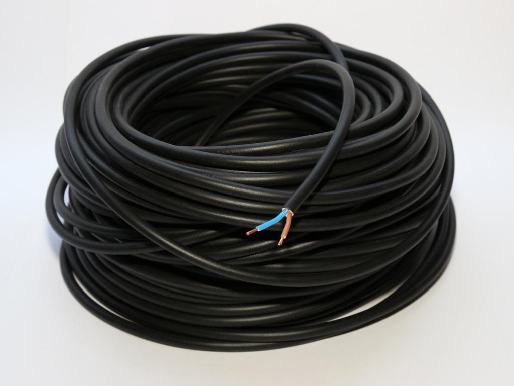 25m kabel 2 adrig schwarz 2x0 75mm schlauchleitung rgb led. Black Bedroom Furniture Sets. Home Design Ideas