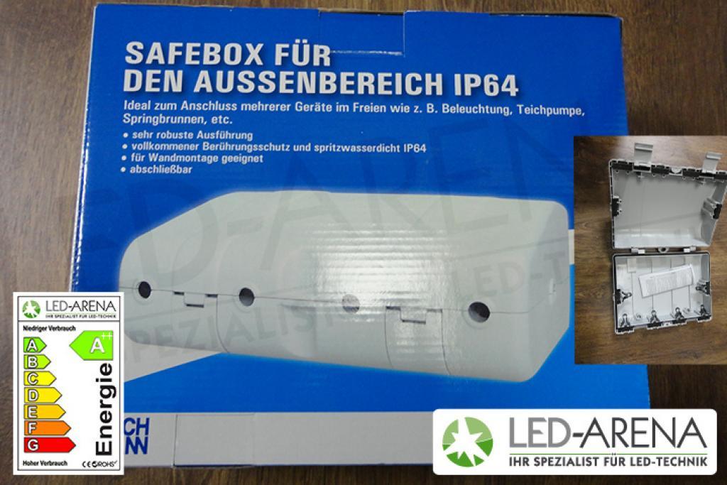 led verteilerkiste safebox 6x einf hrung ip64 innen. Black Bedroom Furniture Sets. Home Design Ideas